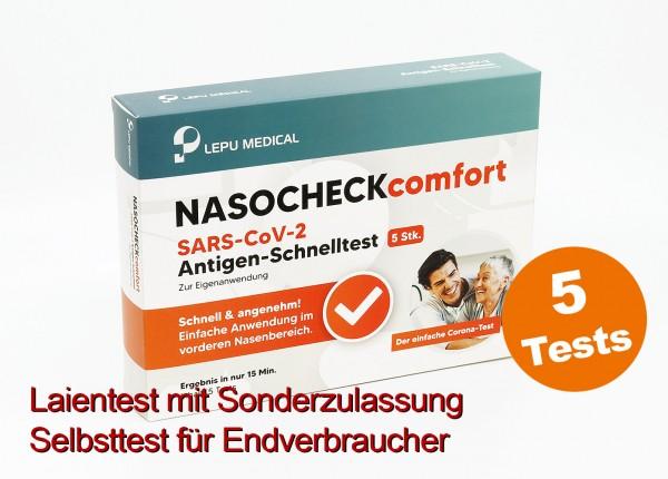 Lepu - Antigen-Nasenbohrertest (Laienzulassung) (5er)